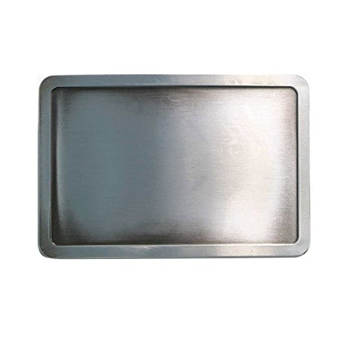 Landisun Handmade DIY Plain Frame Rectangle Belt Buckle silver
