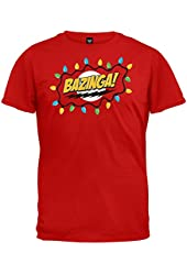 The Big Bang Theory Bazinga! Men's T-Shirt Christmas Red