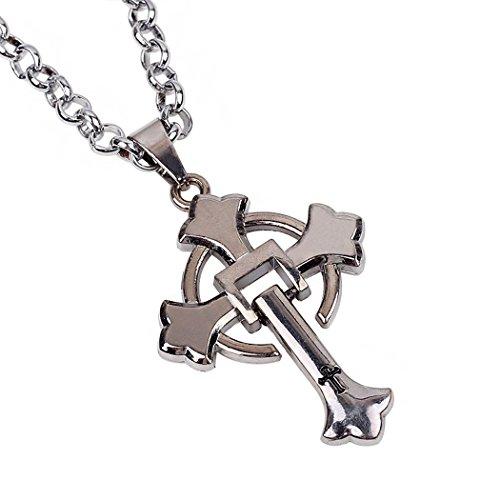 Red Dandelion Personalize Simple Titanium Steel Cross Pendant Men Necklace