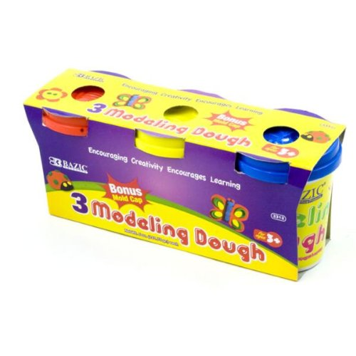 BAZIC 5 Oz. Multi Color Modeling Dough (3/Pack) Case Pack 48 - 816427