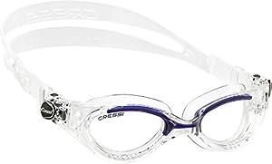 Cressi Swim DE203020 Flash Small Lunettes natation Verre clair Taille unique Bleu