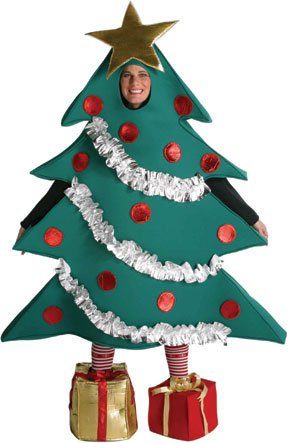 Christmas Tree Costume - One Size - Chest Size 42-48