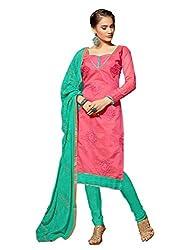 Fabgruh Beautiful Pink Colours Dress Material FG-2DRG13011