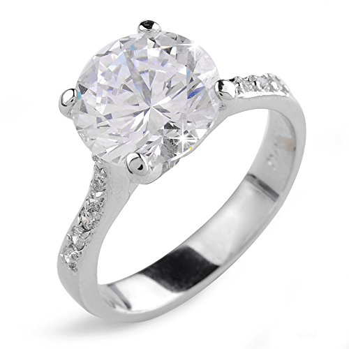 Aiyaya® Round 10*10mm Cz Ring with Engagement for Women Wedding Sz7