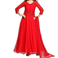 Govardhan Fashion Red Color Party Wear Dress