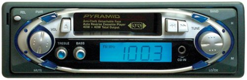 Pyramid 2706D AM/FM/Cassette Player with Detachable Face