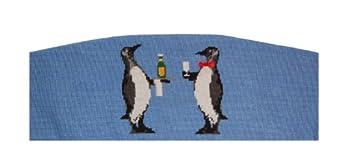 Smathers & Branson Penguins Needlepoint Cummerbund, Arctic Blue (T-003) by Smathers & Branson
