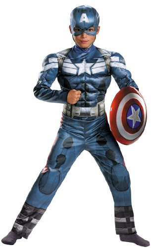 Child Captain America 2 Classic Muscle Costume