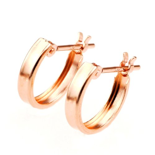 nadi K18PG 10mm フープ ピアス ピンクゴールド 18K Pink Gold (Rose Gold) Hoop stud earrings
