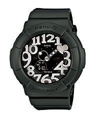 Casio BGA134-3B Baby-G Black Rock Star Neon Illuminator Ladies Watch