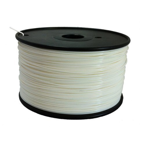 3mm White PLA Filament, 1kg Spool for Reprap, MakerBot and UP! 3D Printer