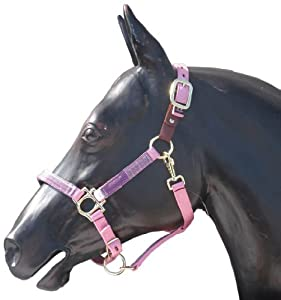 Kensington KPP Breakaway Halter Set with Padded Nose, Pink with Plum Ice Plaid, Small