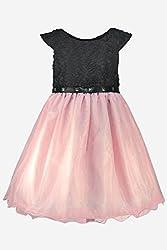 BLACK AND PINK NET DRESS