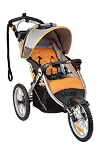 Jeep Overland Limited Jogging Stroller with Front Fixed Wheel, Fierce (Older Version)