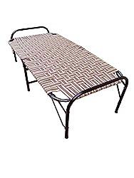 Aggarwal FOL26SLT Single Size Folding Bed (Brown)