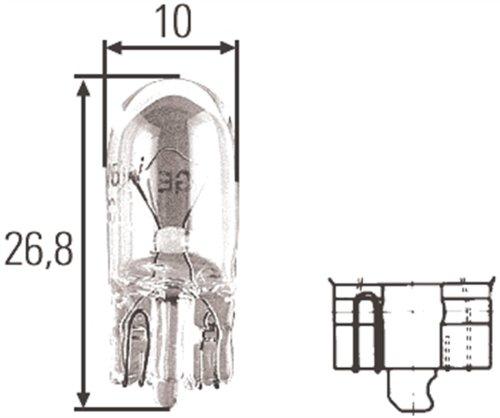 Hella H83220021 T3.25 Series 5 Watt 12 V W5W/2825 Incandescent Bulb