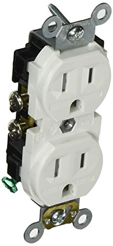 Leviton CR15S-GW 15-Amp, 125-Volt, Narrow Body Duplex Receptacle, Straight Blade, Commercial Grade, Self Grounding, Tamper Resistant, White (Ear Plugs Narrow compare prices)