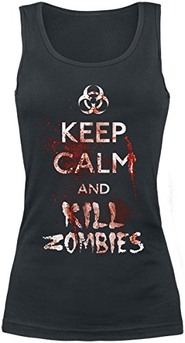 Keep Calm And Kill Zombies Top donna nero XL