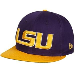 lsu tigers sbo 9fifty flat brim snapback hat