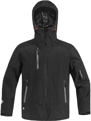 Stormtech ST139 Nylon Taslon Oxford Men's H2xtreme Ascent Hard Shell Jacket, X-Large, Black/Granite