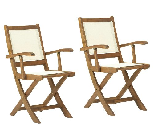 Henley Textilene Garden Lowback Folding Armchair - Pack Of 2 (Price For 2 Chairs) - FREE UK Mainland Delivery