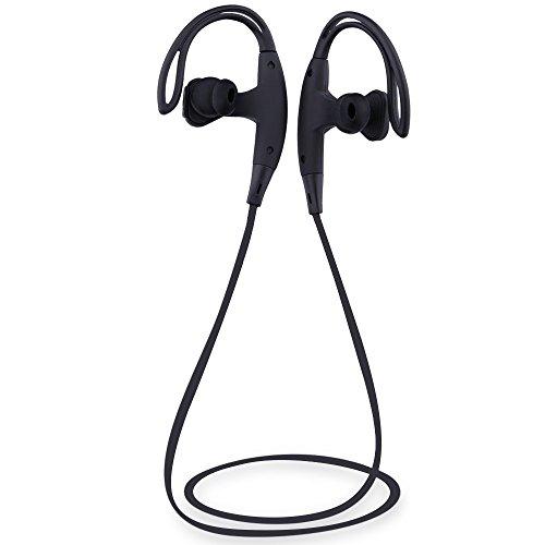 Sunvito Auriculares inalámbricos Bluetooth, estéreo deportivos auriculares con micrófono incorporado, In-ear con reducción de ruido auriculares de bluetooth para Smartphones y otros teléfonos inteligentes/dispositivos Bluetooth (Negro)