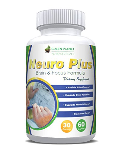 Natural brain function supplement booster for support of mind, memory loss, mental focus, concentration, clarity, performance & mood. Nootropic formula: DMAE, L-Glutamine, Bacopin, DHA & 21 vitamins. (Jellyfish Extract compare prices)