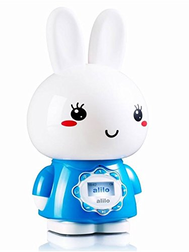 Alilo G7 Big Bunny digital player for kids with LCD screen and remote control, Blue