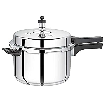 Premier Stainless Steel -Sandwich Bottom 3 Litre Pressure Cooker- ( L x B x H) 30 x 20.3 x 17.1, Silver)