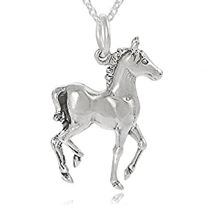 Brinley Co Sterling Silver Horse Necklace