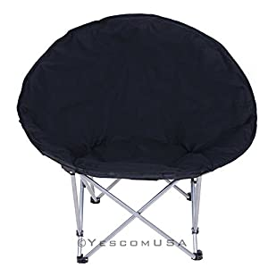 Large Folding Moon Chair Saucer Padded Comfort Lounge Bedroom Garden Furniture Seat Opt by Yescom