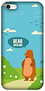 The Racoon Lean printed designer hard back mobile phone case cover for Apple Iphone SE. (Bear with)