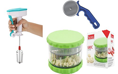 NESTWELL Power Free Blander WITH Garlic & Multi Crusher (ABS) WITH Pizza & Pastry Cutter (Regular)