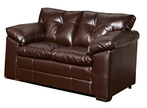 Simmons Upholstery 6569-02 Sebring Coffeebean Bonded Leather Loveseat front-407741