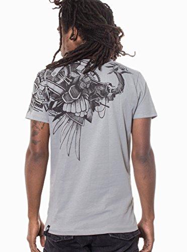 Steampunk-Ostrich-T-Shirt-For-Men-100-Cotton-Tee-Regular-Fit-Streetwear