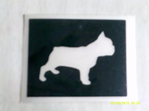 12 x French Bulldog dog stencils for etching on glass gift present glassware hobby craft Frenchie (Bulldog Presents compare prices)