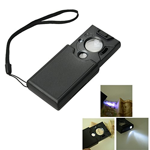 Great Value Loupe & Magnifying Glass 30X 45X 60X 20Mm 9Mm Zoom Portable Microscope Magnifier With 2-Pcs Led Lights