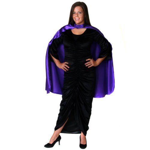 Unisex Purple Satin Costume Cape 36""