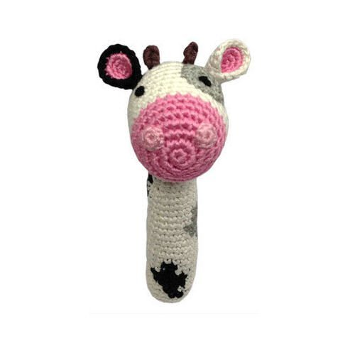 Cheengoo - Organic Baby Rattle - Cow