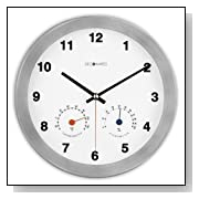 Modern Silent Wall Clock with Thermometer