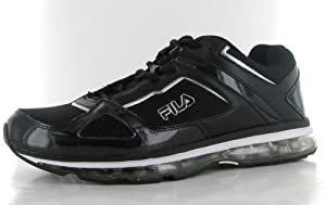 Fila Men's DLS Bonfire Running Shoe,Black/Black/Metallic Silver,11.5 M US