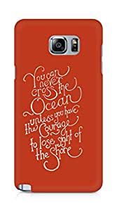 AMEZ you can never cross the Ocean Back Cover For Samsung Galaxy Note 5