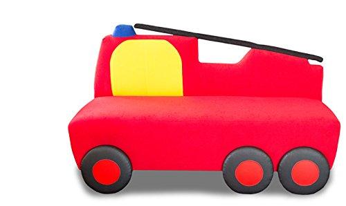 Polstersofa Kinderzimmer Drehleiter Feuerwehr Spielwiese Kuschelsofa KINIC günstig online kaufen