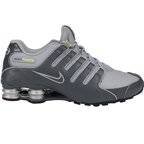 NIKE Nike Shox Nz 378341-009, Herren Sportschuhe, Grau (Dark Grey/Dark Grey-Wolf Grey-Volt-Black-Metallic Silver), EU 46