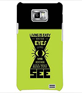 PrintDhaba Quote D-5484 Back Case Cover for SAMSUNG GALAXY S2 (Multi-Coloured)