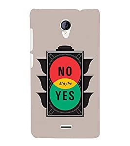 No Maybe Yes 3D Hard Polycarbonate Designer Back Case Cover for Micromax Canvas Unite 2 A106