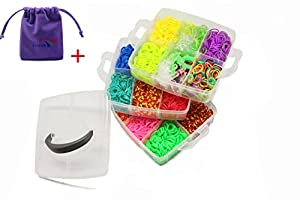 LUXEOS-Popular Loom Bands Kit,Various Type Selection With One LUXEOS Velvet Bag