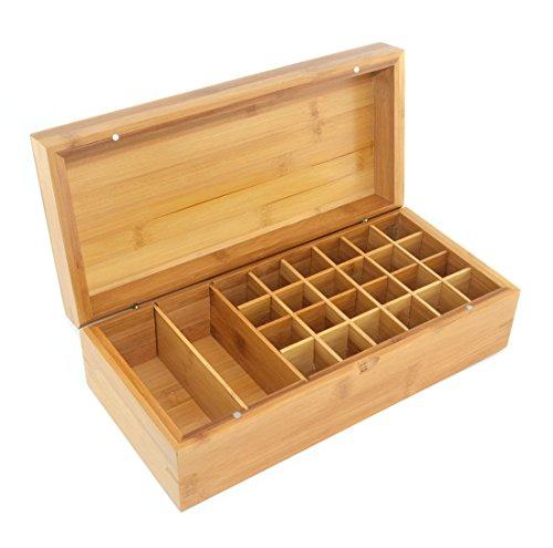 Samyo Aromatherapy Essential Oil Wooden Storage Gift Box (Fits 26 bottles)
