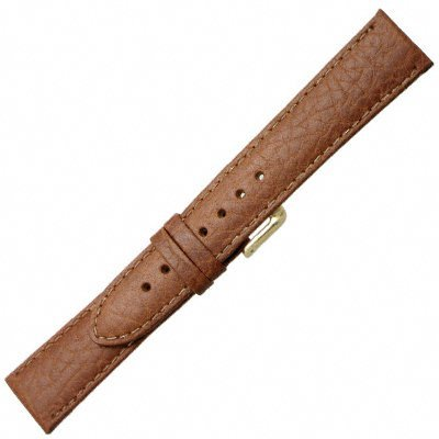 22mm Speidel Genuine Leather Padded Stitched Sport Calf Tan Brown Ladies Watch Band Strap Long