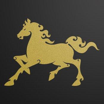 Horse... Gold-Matte (18 X 12.7 inch) KR33X